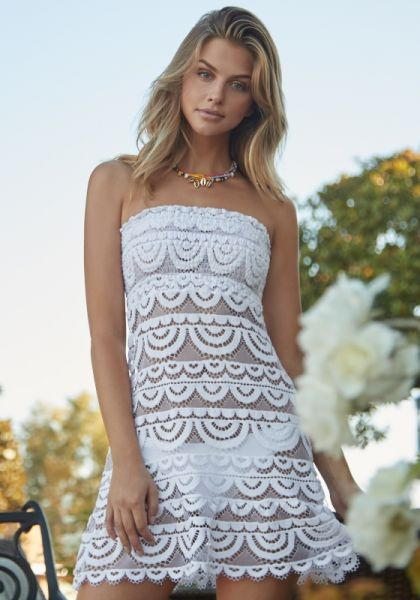 PQ Swim Waterlily Lace Tube Dress