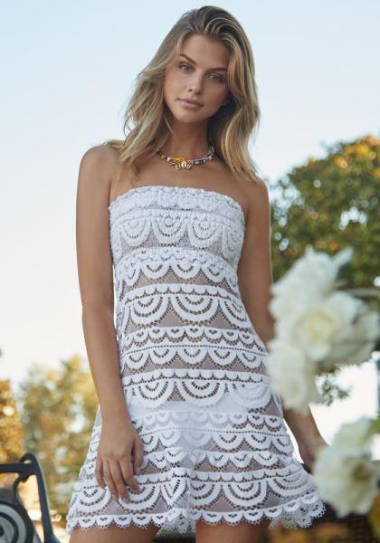 PQ Swim Waterlily Lace Tube Dress