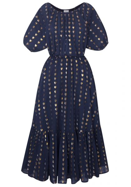 Rhode Resort Frida Dress Navy Lurex