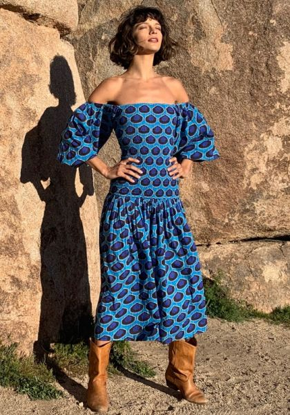 Rhode Resort Harper Dress Blue Ikat