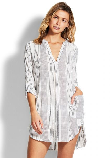 Seafolly Mono Stripe Cover Up