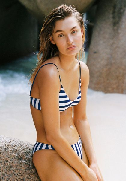 WaterCult Seafarer Rib Bralette Bikini