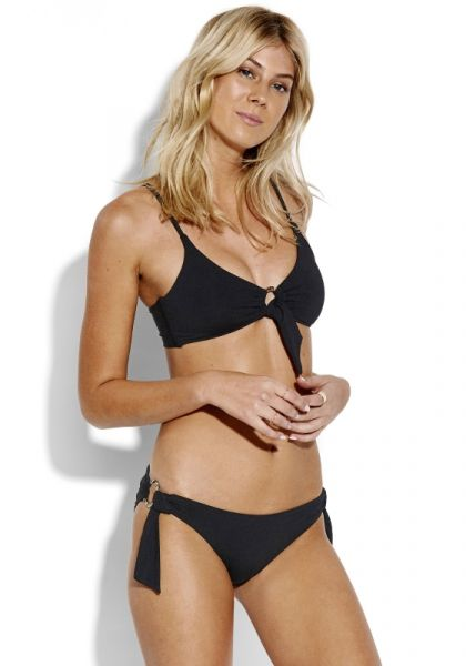 Seafolly Ring Front Bralette Black