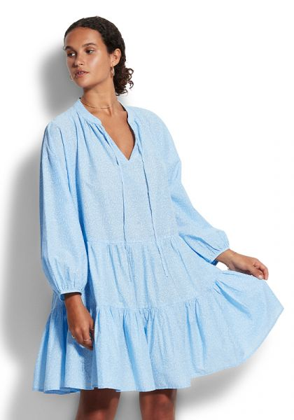 Boheme Tiered Dress Blue
