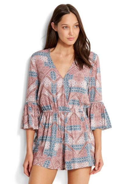 Seafolly Bohemian Print Playsuit