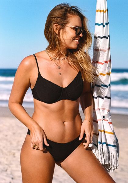 Capri Sea U Wire Bikini Black
