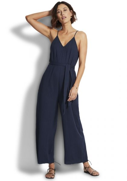 Double Cloth Jumpsuit Indigo