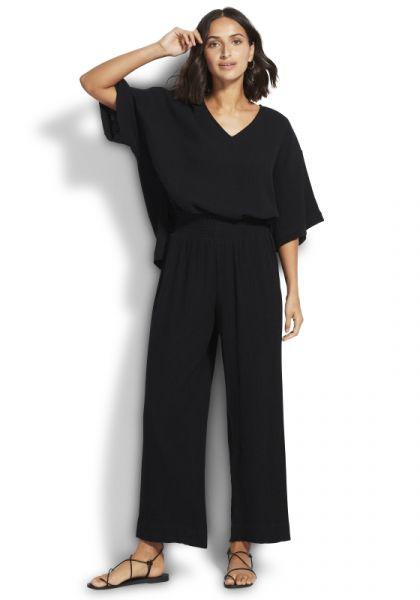 Double Cloth Pants Black