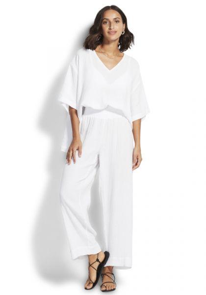 Double Cloth Pants White