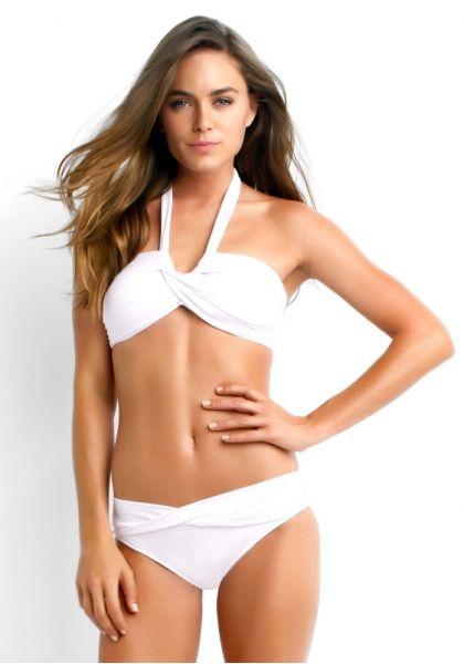 Seafolly Goddess Bandeau Bikini White