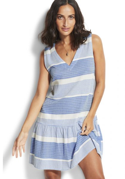 Seafolly Jacquard Coverup Blue