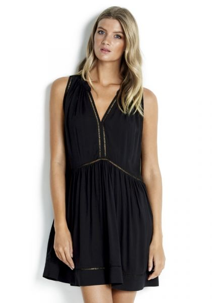 Seafolly | Black Ladder Dress