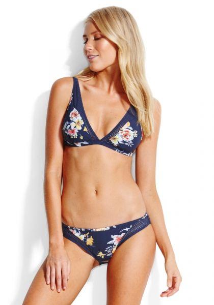 Seafolly Midsummer Longline Triangle Bikini Indigo