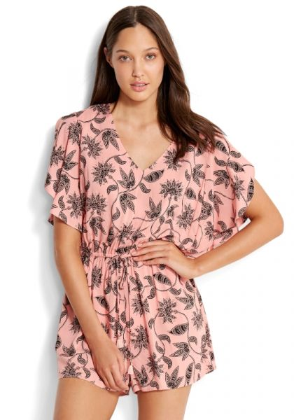 Seafolly Mono Batik Playsuit