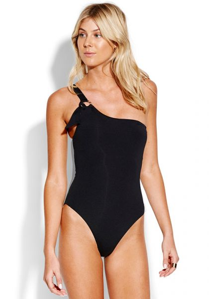 Seafolly Active One Shoulder Ring Swimsuit