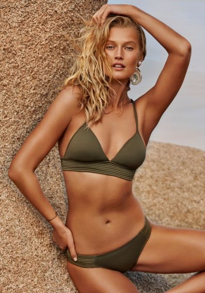 Seafolly Quilted Triangle Bikini Olive