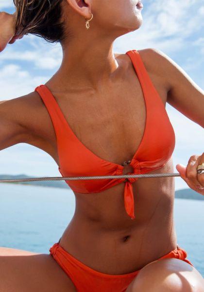 Seafolly Ring Front Bikini Tangelo
