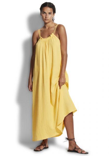 Soleil Double Cloth Dress Daffodil