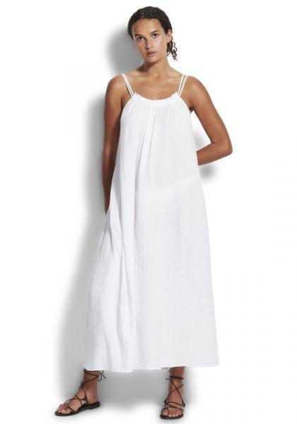 Soleil Double Cloth Dress White