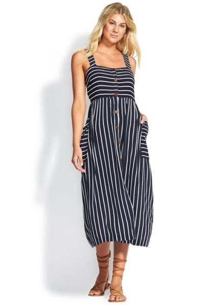 Seafolly Stripe Button Down Dress