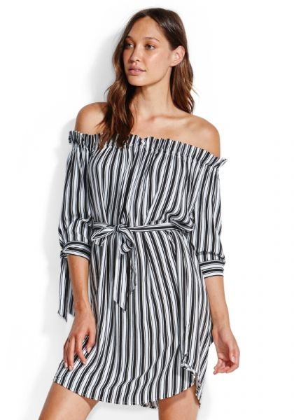 Seafolly Stripe Off Shoulder Dress