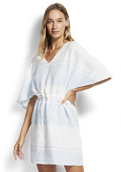 Seafolly Voyage Stripe Kaftan Blue