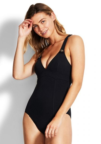 Seafolly Active Button Tank Swimsuit