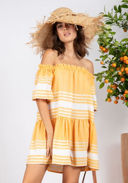 Sundress Bella Short Dress Fouta Curcuma