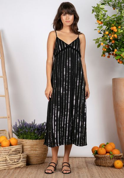 Sundress Madeline Long Dress Black