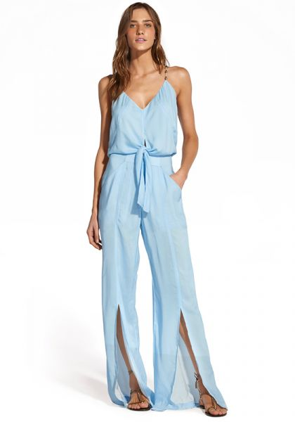 Vix Swimwear Nora Jumpsuit Light Blue