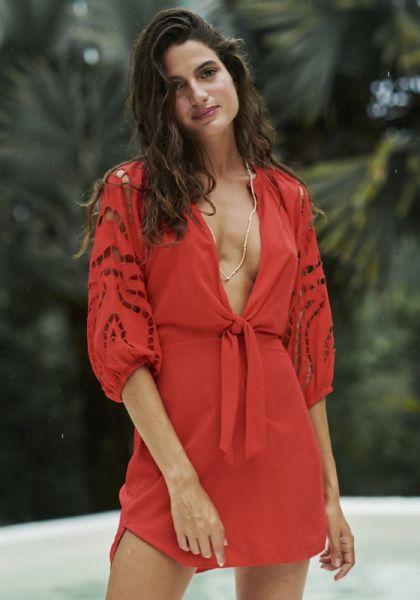 Vix Swimwear Red Pepper Alice Short Chemise