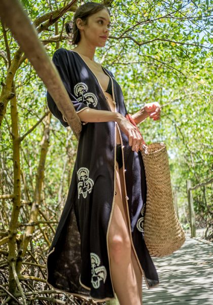 Vix Black Braid Kaftan