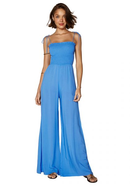 Solid Romance Jumpsuit Blue
