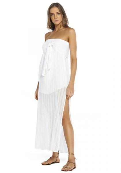 Vix Tess Strapless Dress White
