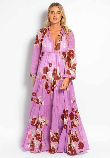 Yvonne S Hippy Maxi Dress Mauve