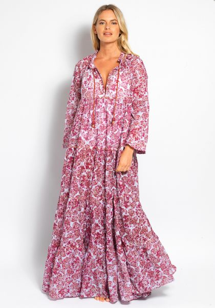 Yvonne S Hippy Maxi Dress Bubbles