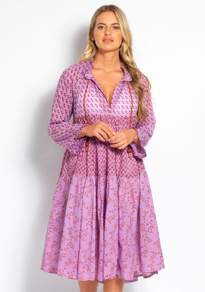 Yvonne S Short To Knee Dress Mauve