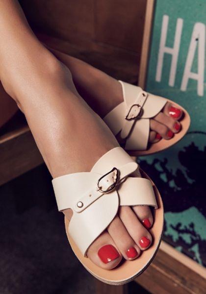 Ancient Greek Sandals Anna Sandals Off White