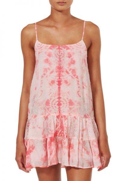 Juliet Dunn Marble Silk Cami Dress