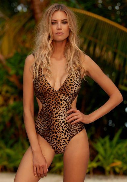Melissa Odabash Del Mar Swimsuit Cheetah