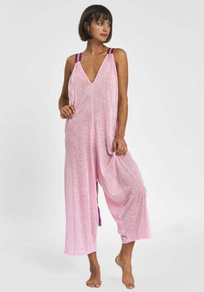 Pitusa Cheetah Jumpsuit Pink
