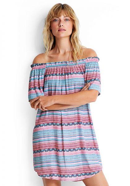 Seafolly Stripe Off Shoulder Dress