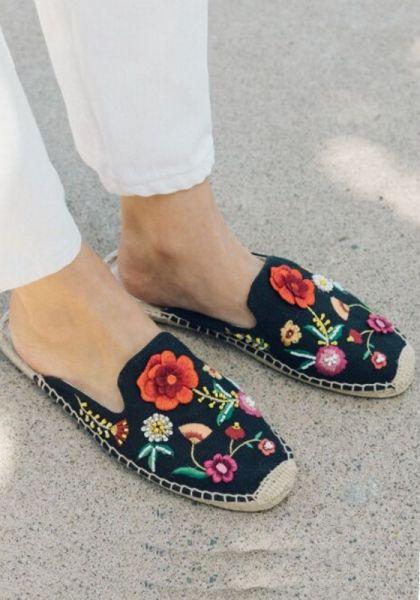 Soludos Embroidered Floral Espadrilles