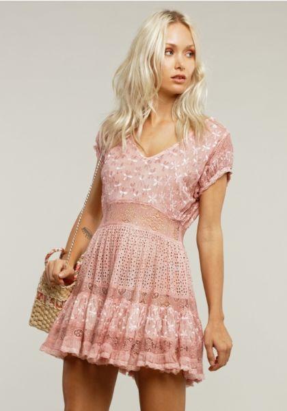 Sunday St Tropez America Dress Pink