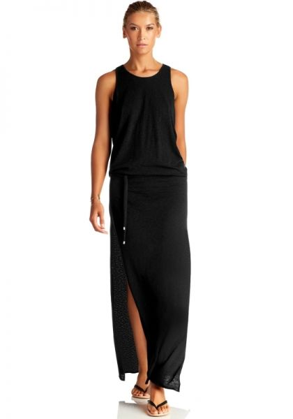 Vitamin A island Maxi Dress Black